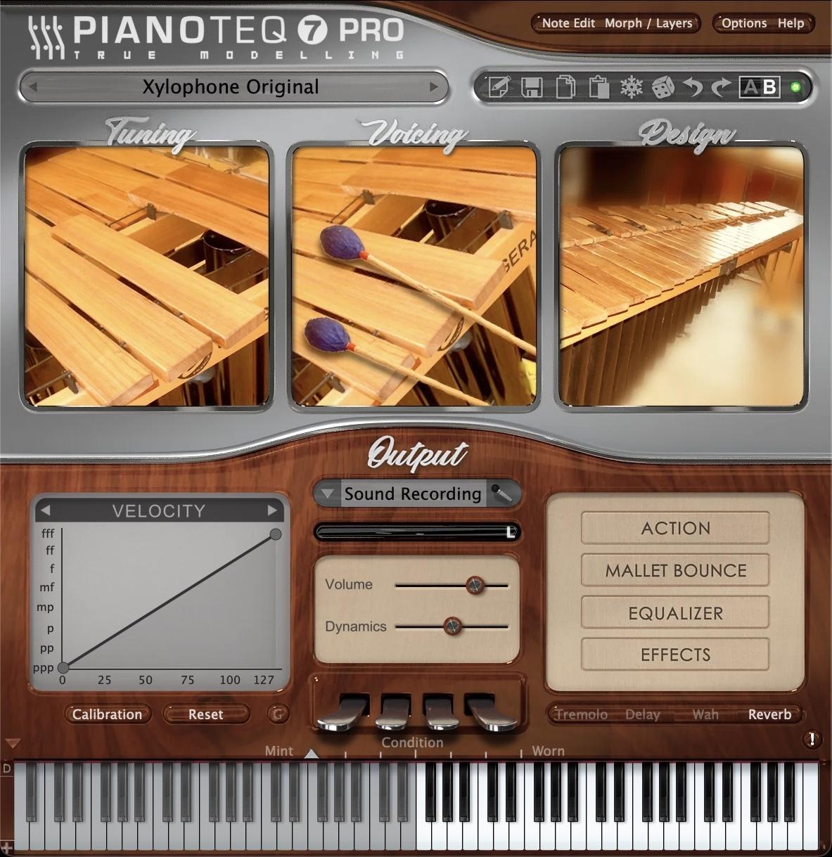 Pianoteq - Xylo: Marimba bass & Xylophone