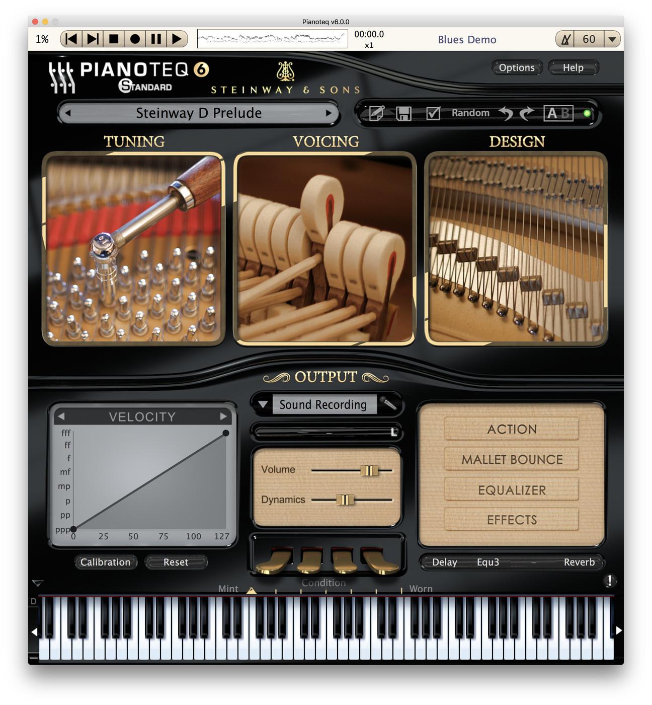 Pianoteq for Mac OS X full screenshot